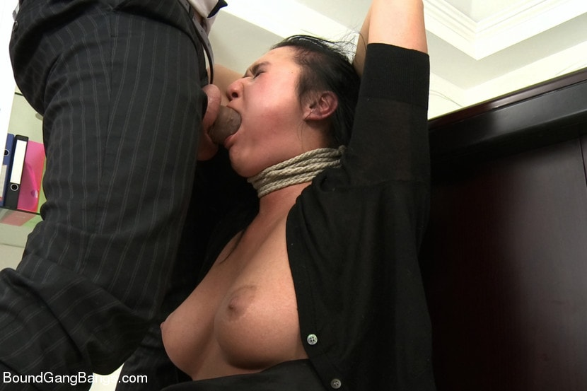 Kink 'Secretary Take Down:Boss and Friends Tie her up and Fill her Pussy' starring Rokki (Photo 16)