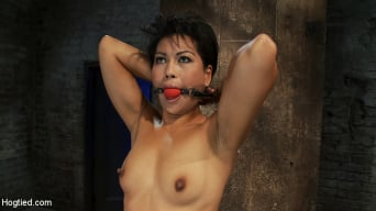 Max Mikita in 'Asian MILF with huge nipples is made to cum hard pulled to her tip toes with a brutal crotch rope'