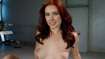 Melody Jordan in 'Sassy Red Head with Gorgeous Long Legs Fucked OUT by Machines'