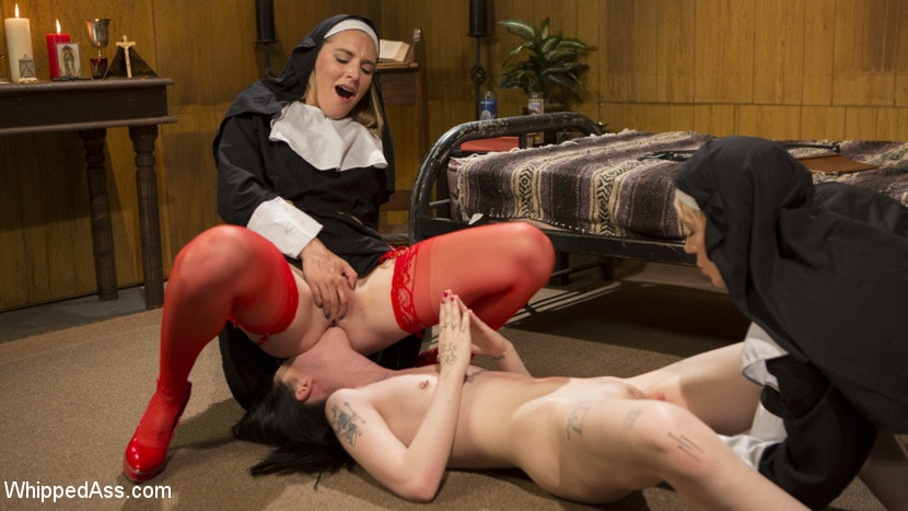Kink 'Anal Initiation: Aspiring Nun Gets Beaten and Fucked!' starring Mona Wales (Photo 6)