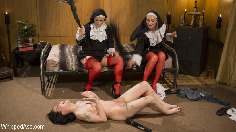 Kink 'Anal Initiation: Aspiring Nun Gets Beaten and Fucked!' starring Mona Wales (Photo 24)