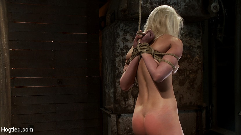 Kink 'Local amateur girl in her first hardcore bondage shoot Reverse Prayer, flogged her perfect ass.' starring Natasha Lyn (Photo 5)