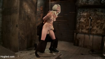 Natasha Lyn in 'Local amateur girl in her first hardcore bondage shoot Reverse Prayer, flogged her perfect ass.'