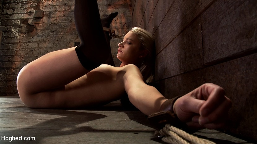 Kink 'Shy sexy blond girl is trapped, bound, humiliated Long legs spread wide, made to cum like a whore' starring Natasha Lyn (Photo 2)