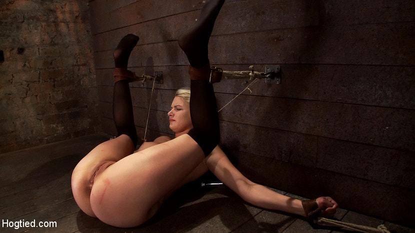 Kink 'Shy sexy blond girl is trapped, bound, humiliated Long legs spread wide, made to cum like a whore' starring Natasha Lyn (Photo 3)