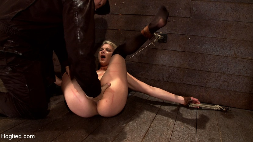 Kink 'Shy sexy blond girl is trapped, bound, humiliated Long legs spread wide, made to cum like a whore' starring Natasha Lyn (Photo 5)