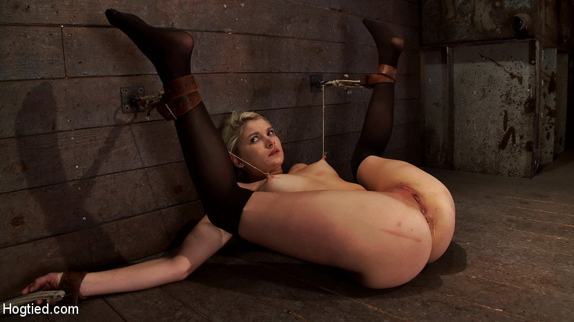 Kink 'Shy sexy blond girl is trapped, bound, humiliated Long legs spread wide, made to cum like a whore' starring Natasha Lyn (Photo 8)