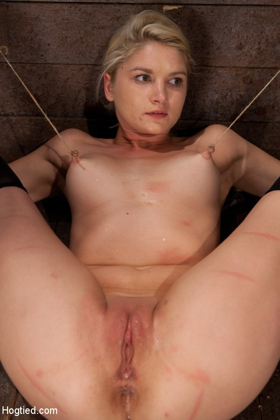 Kink 'Shy sexy blond girl is trapped, bound, humiliated Long legs spread wide, made to cum like a whore' starring Natasha Lyn (Photo 14)
