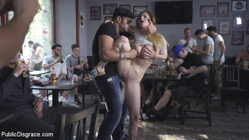Kink 'All Natural Busty Brunette Anal Slut First Time DP on Public Disgrace!' starring Nikki Thorne (Photo 17)
