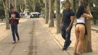 Pamela Sanchez in 'Welcome to Madrid! Public walk of shame.'