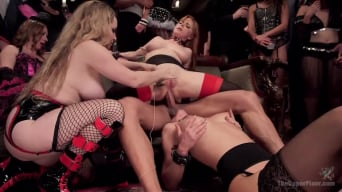 Penny Pax in 'Sexy Anal Slaves Serve Holiday Orgy'