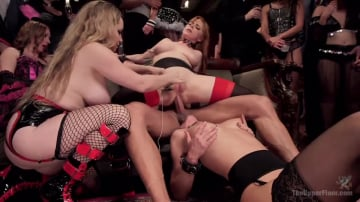 Penny Pax - Sexy Anal Slaves Serve Holiday Orgy