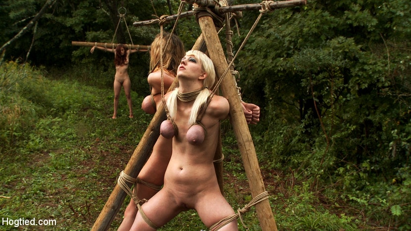 Kink 'The Dig: The conclusion. A BDSM Abduction Horror Feature film Out door bondage at its best!' starring Rain DeGrey (photo 5)