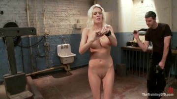 Riley Evans - The Training of a Big Tit, Bleach Blonde Porn Star, Day One