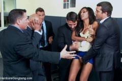 Sadie Santana - Step-father offers her up to 5 guys in order to seal a business deal. (Thumb 02)