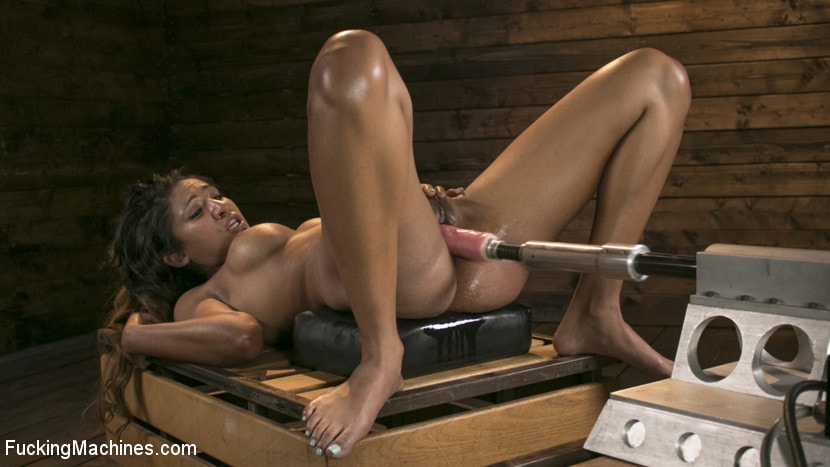 Kink 'Tall and Long-Legged Latin Goddess Gets Machine-Fucked!!' starring Sadie Santana (Photo 10)