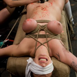 Saffron in 'Kink' Big tits Bound and shocked (Thumbnail 9)