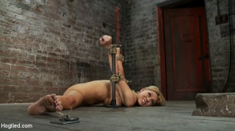 Samantha Sin in 'Flexible Blond MILF is tied in the splits. We cane, flog and make this mom cum like a whore.'
