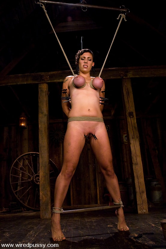 Kink 'Amateur gets her big tits tied and shocked for the FIRST TIME ever!' starring Sandra Romain (Photo 5)