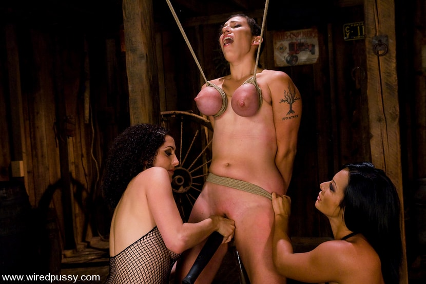 Kink 'Amateur gets her big tits tied and shocked for the FIRST TIME ever!' starring Sandra Romain (Photo 9)