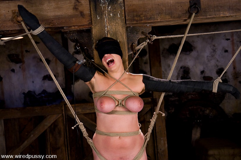 Kink 'Amateur gets her big tits tied and shocked for the FIRST TIME ever!' starring Sandra Romain (Photo 13)