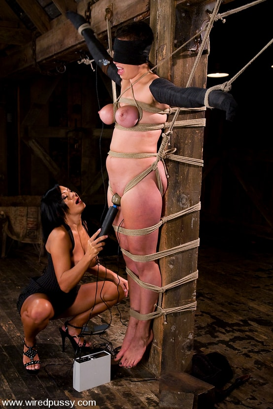 Kink 'Amateur gets her big tits tied and shocked for the FIRST TIME ever!' starring Sandra Romain (Photo 14)