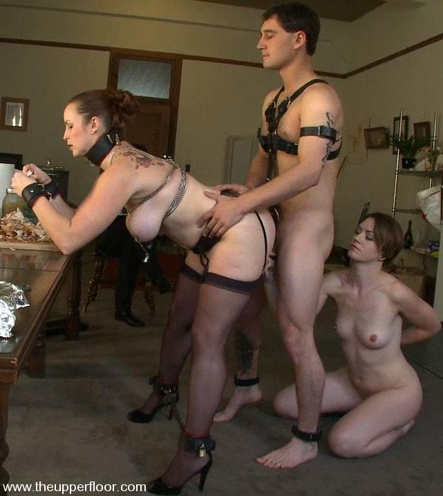 Preparing sex slaves for parties