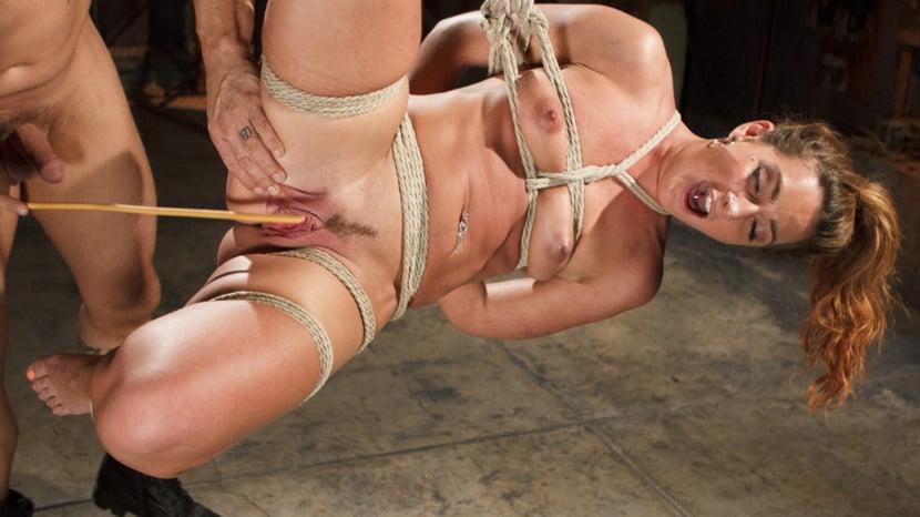 Forced bondage and masturbation squirts