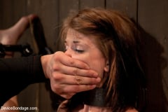 Sensi Pearl - Destructive orgasms - this Little Brunette is made to cum in stressful bondage (Thumb 12)