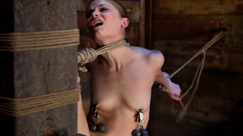 Sensi Pearl in 'Standing splits, full strappado Intense foot caning, brutal orgasms ripped from her helpless body'