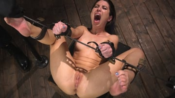 Serena Blair - Petite Slut Serena Blair Punished and Made to Cum in Metal Bondage!!