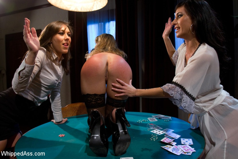 Kink 'Sexy MILF boss punished and fucked by lesbian employees at a strip poker game!' starring Sinn Sage (Photo 15)
