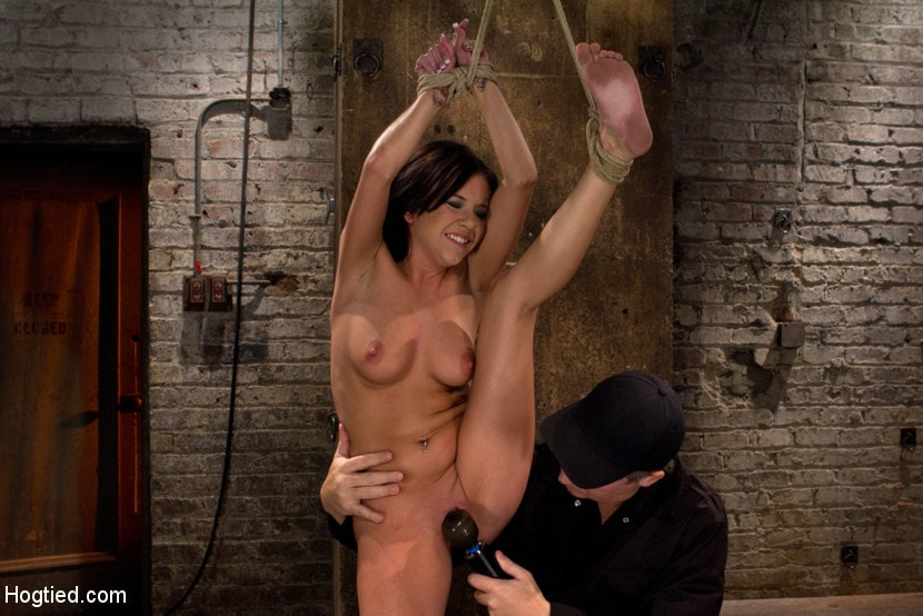 Kink 'Sexy all natural 20yr old with full C breasts does her first Hogtied shoot. Love the cute ones' starring Tessa Taylor (Photo 4)