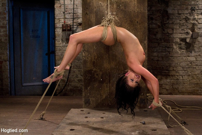 Kink 'Sexy girl next door is bound and suspended, stretched to the limits of the human body So helpless!' starring Tessa Taylor (Photo 1)