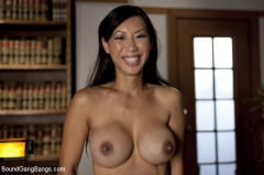 Tia Ling - Beautiful Asian Lawyer Fantasizes About being Taken Down and Gangbanged in Alley by Five Black Men (Thumb 01)