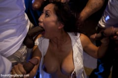 Tia Ling - Beautiful Asian Lawyer Fantasizes About being Taken Down and Gangbanged in Alley by Five Black Men (Thumb 08)