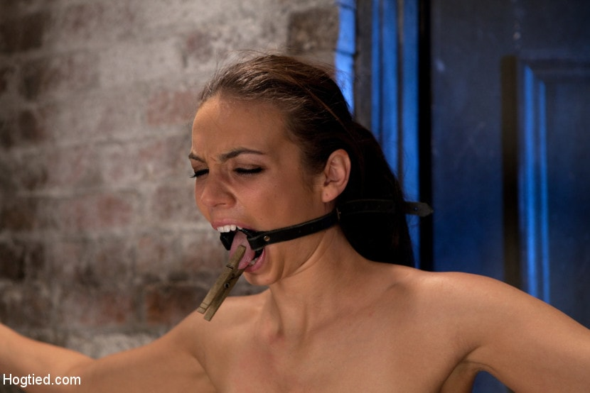 Kink 'It's her first hardcore Bondage shoot. She cums like a whore while gagged and suspended! Category 5' starring Tiffany Tyler (Photo 12)