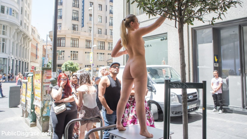 Kink 'Perky Blonde Selvaggia Fully Nude in Public Gets Anal Fisted and DP'd' starring Tina Kay (photo 1)