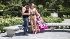 Tina Kay - Perky Blonde Selvaggia Fully Nude in Public Gets Anal Fisted and DP'd (Thumb 02)