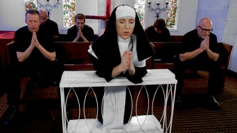 Maia Davis in 'Petite Blonde Lives out Fantasy: Nun Gangbanged by 5 Priests in Chapel'