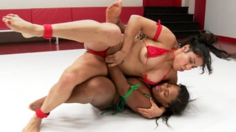 Yasmine Loven in 'Welter Weight Bout, Big Tits and Big Asses battle for the right to fuck the loser'