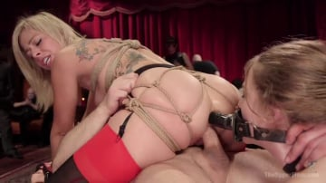 Zoey Monroe - Bombshell Blond Anal Queen Trains New Slave Girl