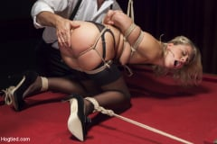 Zoey Monroe - Hot Blonde with Petite Pussy Bound and Banged in Pool Hall (Thumb 07)